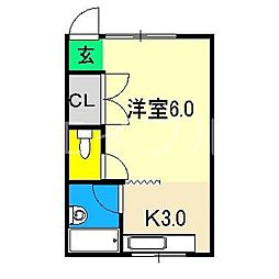 ひまわりハイツ[3階]の間取り