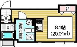 JR山手線 西日暮里駅 徒歩5分の賃貸マンション 3階ワンルームの間取り