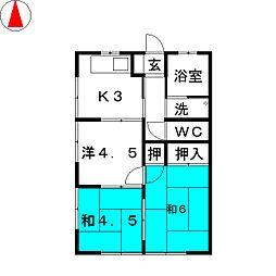 和田コーポ[2階]の間取り