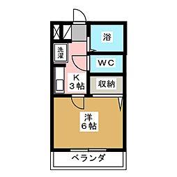マンションクィーン[1階]の間取り