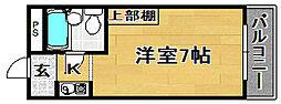 大阪府大阪市東淀川区井高野3丁目の賃貸マンションの間取り