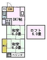 マインドハイツ平尾3階Fの間取り画像