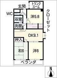シャローム・ビオン・R[5階]の間取り