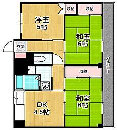 VILLAGE HOUSE−ビレッジハウス春日[5階]の間取り