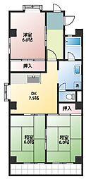メゾン戸田谷[3階]の間取り