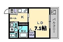 メゾン・ド・キャトルIII[1階]の間取り