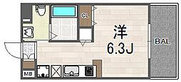 大阪府大阪市此花区西九条1丁目の賃貸マンションの間取り