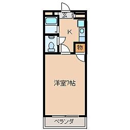 組坂ビル No5[104号室]の間取り