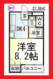 神奈川県大和市中央林間5の賃貸マンションの間取り