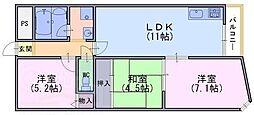 メゾン河忠[2階]の間取り