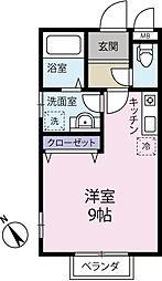 柚コーポ[103号室]の間取り