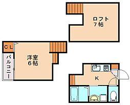 シャレオ井尻[2階]の間取り