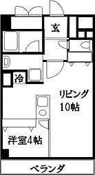 ファリーチェ成瀬[2階]の間取り