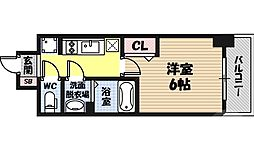 レオンコンフォート京橋イースト 2階1Kの間取り