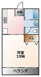 兵庫ハイツ[3階]の間取り