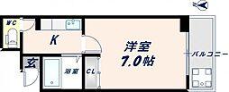 大宝長田ルグラン[705号室]の間取り