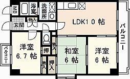 ドリーム中村[7階]の間取り