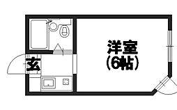 マンションシャトー[202号室]の間取り