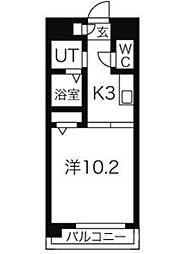 VERDINO内田橋(ヴェルディーノ)[4階]の間取り