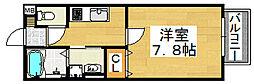 大阪府堺市北区百舌鳥赤畑町5丁の賃貸アパートの間取り