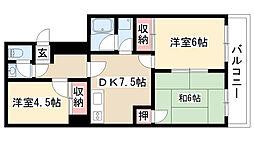 愛知県名古屋市昭和区丸屋町6丁目の賃貸マンションの間取り