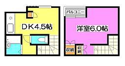 d Apartment B[2階]の間取り
