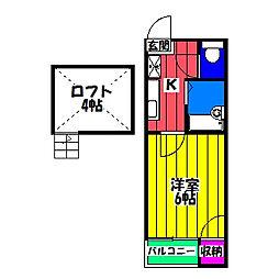 長島コーポ[2階]の間取り