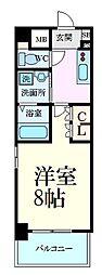 阪神本線 芦屋駅 5階建 新築 2階1Kの間取り