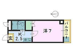 法隆寺駅前ビル[3階]の間取り