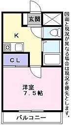 エスポR3[3階]の間取り