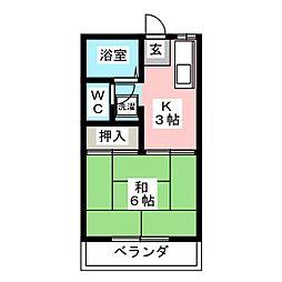 ビュースミ A棟[2階]の間取り