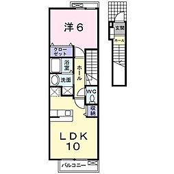 レジデンス細野II[2階]の間取り