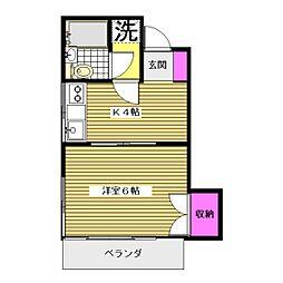 庭田コーポ[2階]の間取り