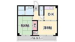 赤はねマンション[2階]の間取り