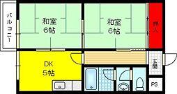 富尾マンションII[3階]の間取り