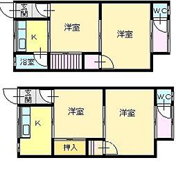宝楽荘[1階]の間取り
