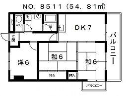 和泉シティハイツ[703号室号室]の間取り