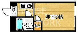 京都府京都市上京区中務町の賃貸マンションの間取り