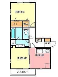 モアサンハイム[2階]の間取り