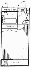 ワコーレ川口第5[2階]の間取り