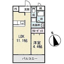 TKハウス 2階[203号室]の間取り