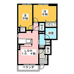 さんこ〜ぽ八代II A[1階]の間取り