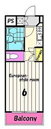 鶴川サンヴィレッジ[2階]の間取り