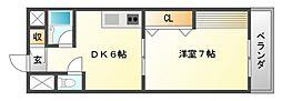 第10関根マンション[1階]の間取り