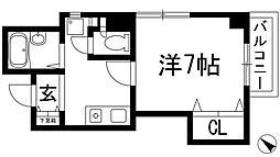 デセンテコート[8階]の間取り