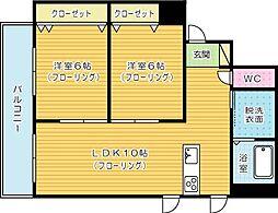 藤本ビルNo.21[201号室]の間取り