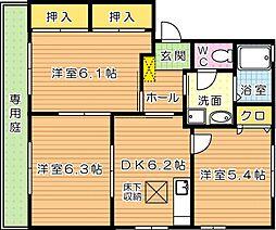 アルカディア C棟[1階]の間取り