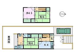 [テラスハウス] 奈良県奈良市若葉台4丁目 の賃貸【奈良県 / 奈良市】の間取り