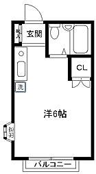 レクコーポ成城[1階]の間取り
