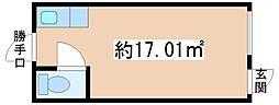 第三大田ビル[102号室]の間取り